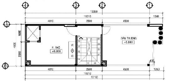 Mẫu nhà phố 3 tầng mặt tiền 4m chi phí 800 triệu đồng