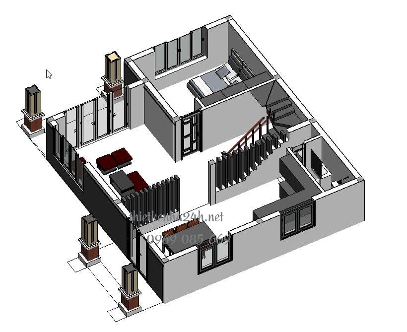 Biệt thự 2 tầng 220m2